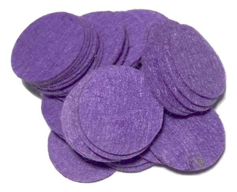 "1"" purple felt circles / 25-50 pieces"