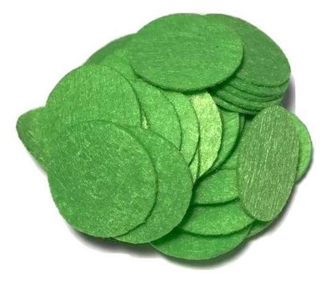 "1"" green felt circles / 25-50 pieces"