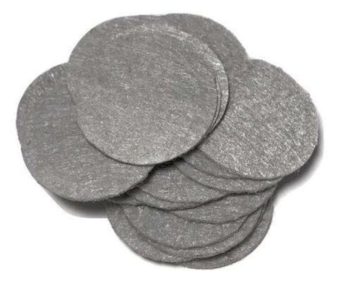 "1"" gray felt circles / 25-50 pieces"