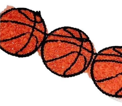"3"" shabby chiffon basketball trim - MAE Inspirations"