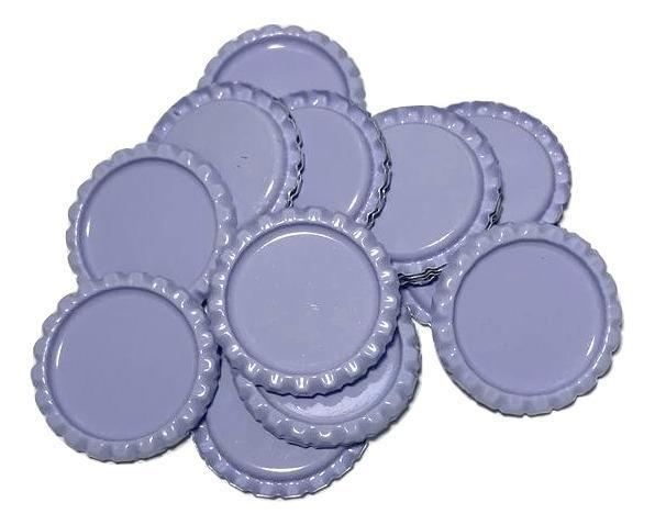 Lavender flattened bottle caps - MAE Inspirations
