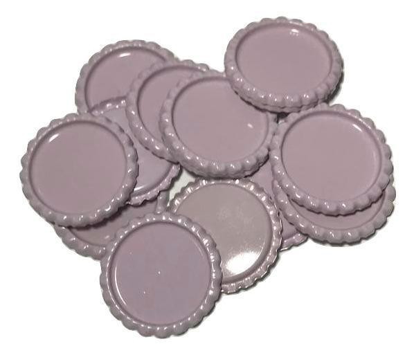 Pink lavender flattened bottle caps - MAE Inspirations