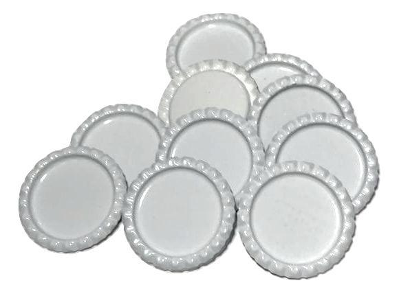 White flattened bottle caps - MAE Inspirations