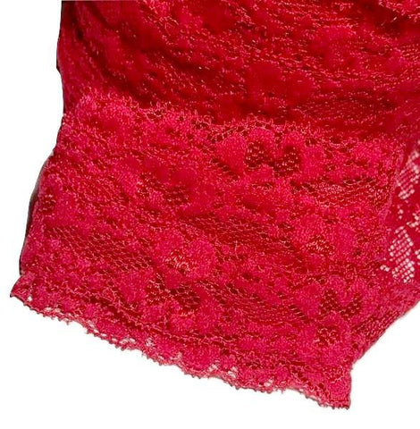 "Red 1"" lace elastic - MAE Inspirations"