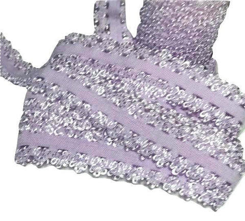 "Lavender 3/4"" picot edge lace elastic - MAE Inspirations"