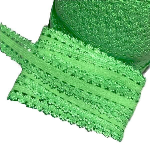 "Lime green 3/4"" picot edge lace elastic - MAE Inspirations"