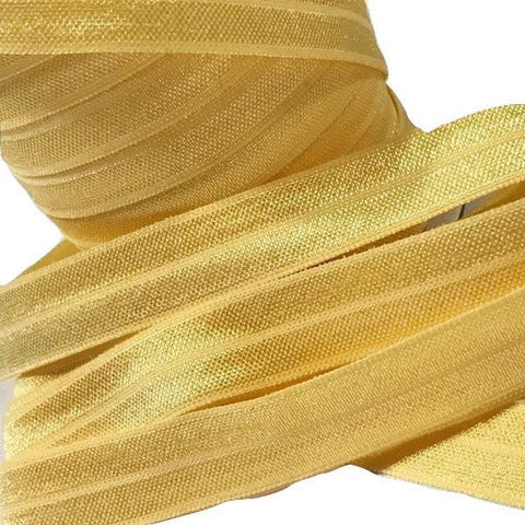 "Daffodil yellow 5/8"" fold over elastic FOE"