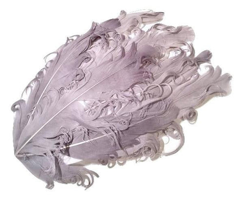 Gray curly nagorie feather pad - MAE Inspirations