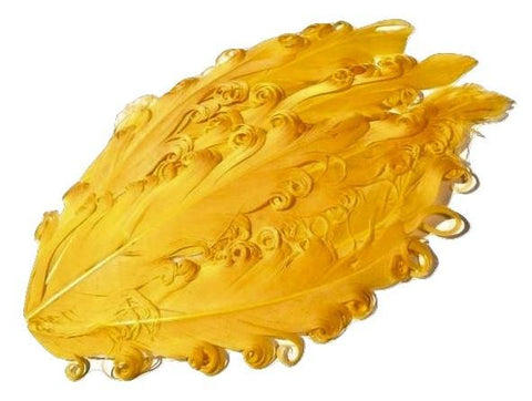 Yellow curly nagorie feather pad - MAE Inspirations