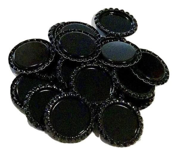 Black flattened bottle caps - MAE Inspirations