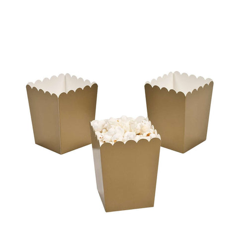 Gold popcorn boxes - MAE Inspirations