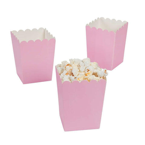 Light pink popcorn boxes - MAE Inspirations