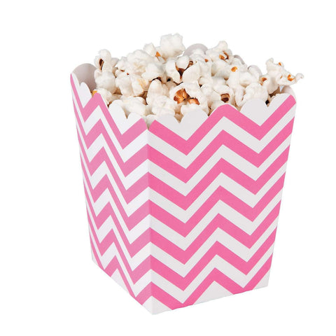 Pink chevron popcorn boxes - MAE Inspirations