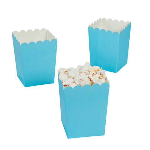 Turquoise blue popcorn boxes - MAE Inspirations