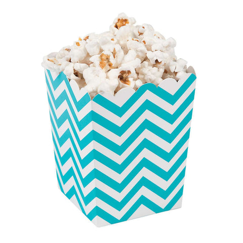 Turquoise chevron popcorn boxes - MAE Inspirations