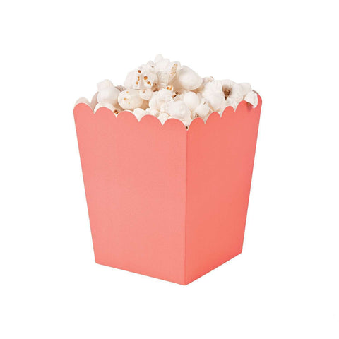 Coral popcorn boxes - MAE Inspirations