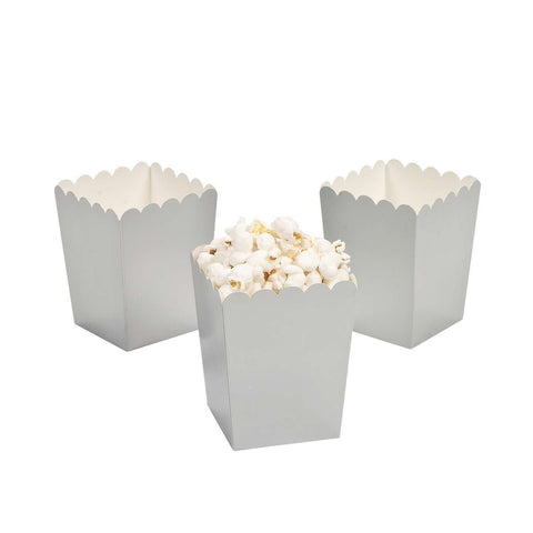 Silver popcorn boxes - MAE Inspirations