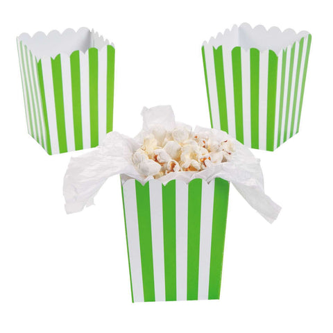 Green striped popcorn boxes - MAE Inspirations