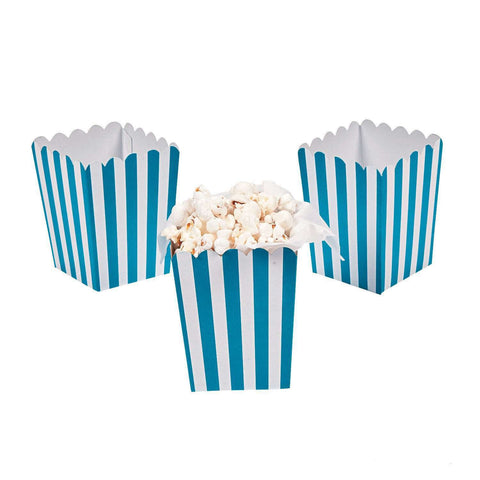 Blue striped popcorn boxes - MAE Inspirations