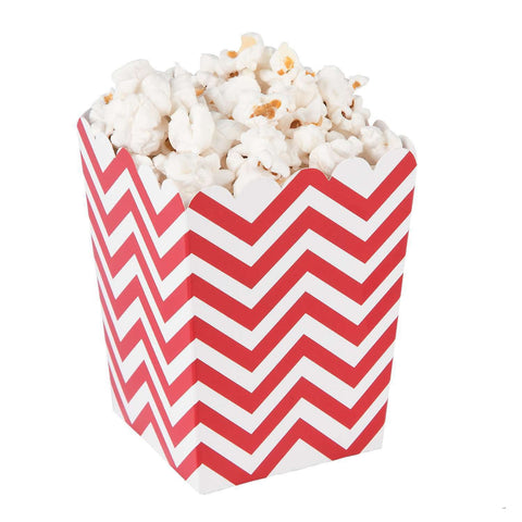 Red chevron popcorn boxes - MAE Inspirations