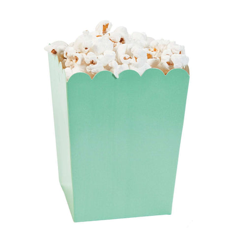 Mint green popcorn boxes - MAE Inspirations