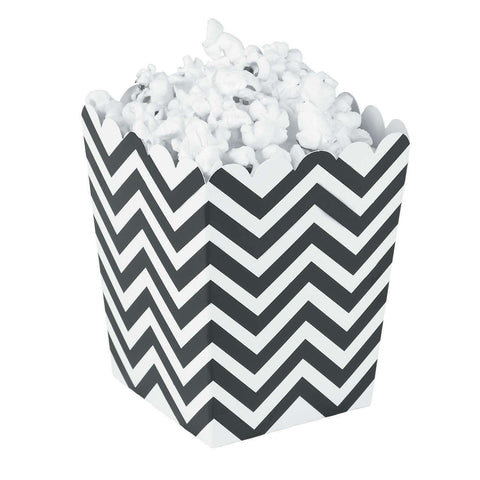 Black chevron popcorn boxes - MAE Inspirations