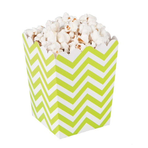 Lime chevron popcorn boxes - MAE Inspirations