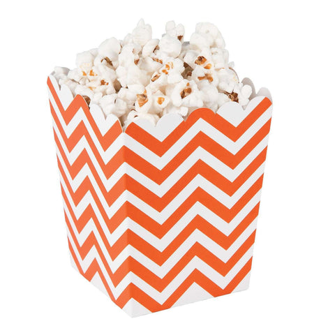 Orange chevron popcorn boxes - MAE Inspirations