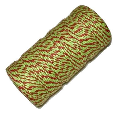 Green & red Christmas 12 ply bakers twine - MAE Inspirations