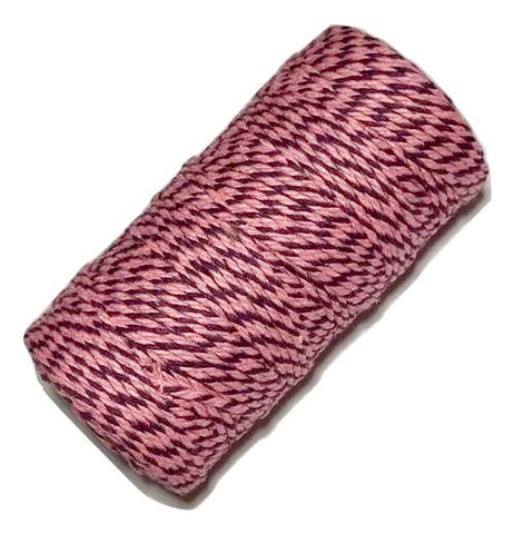 Pink & purple 12 ply bakers twine - MAE Inspirations
