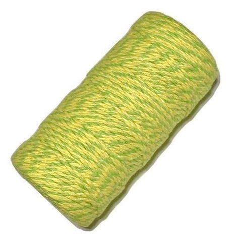 Yellow & green 12 ply bakers twine - MAE Inspirations