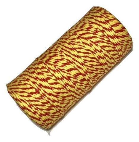 Yellow & red 12 ply bakers twine - MAE Inspirations