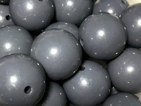 20mm charcoal gray chunky bubblegum beads - MAE Inspirations
