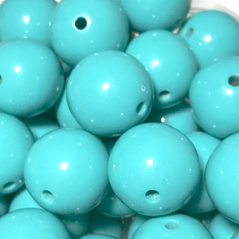 20mm cyan chunky bubblegum beads - MAE Inspirations