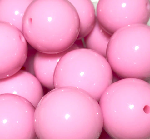 20mm pink chunky bubblegum beads - MAE Inspirations
