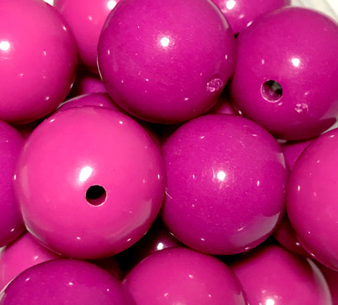 20mm fuchsia pink chunky bubblegum beads - MAE Inspirations