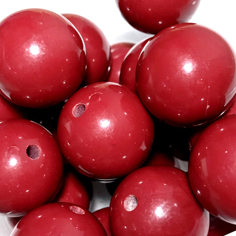 20mm burgundy chunky bubblegum beads - MAE Inspirations