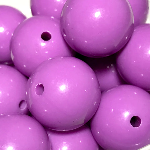 20mm medium purple chunky bubblegum beads - MAE Inspirations