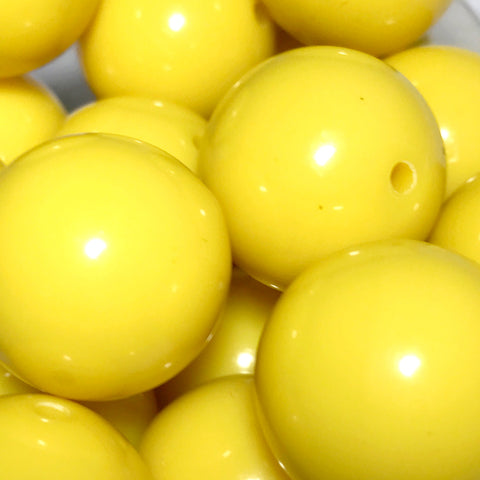 20mm golden yellow chunky bubblegum beads - MAE Inspirations