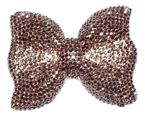 42x54mm bronze rhinestone bow chunky bubblegum beads - MAE Inspirations