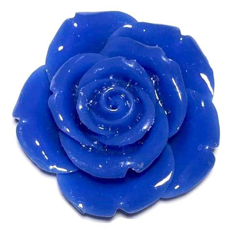 42mm royal blue flower chunky bubblegum beads - MAE Inspirations