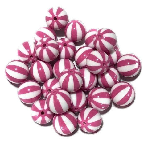 20mm hot pink watermelon chunky bubblegum beads - MAE Inspirations