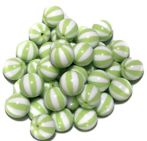 20mm lime green watermelon chunky bubblegum beads