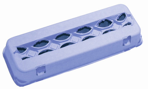Pale blue 12 count windowed egg carton - MAE Inspirations
