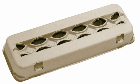 Brown 12 count windowed egg carton - MAE Inspirations