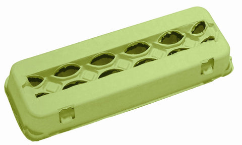 Lime green 12 count windowed egg carton - MAE Inspirations