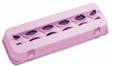 Pink 12 count windowed egg carton - MAE Inspirations
