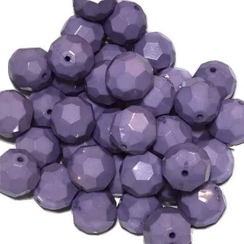 22mm lavender faceted chunky bubblegum beads - MAE Inspirations
