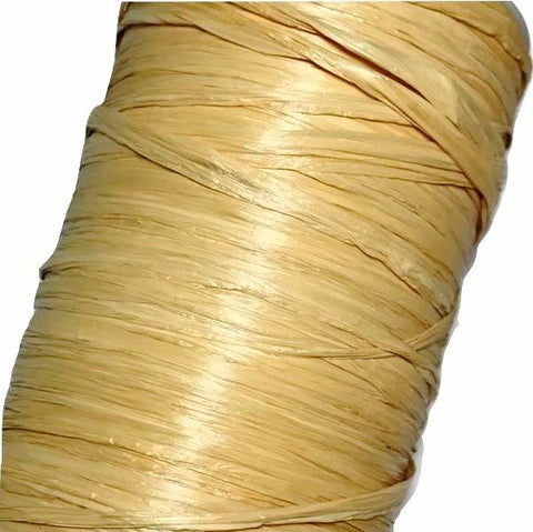 "Gold 1/4"" raffia ribbon - MAE Inspirations"