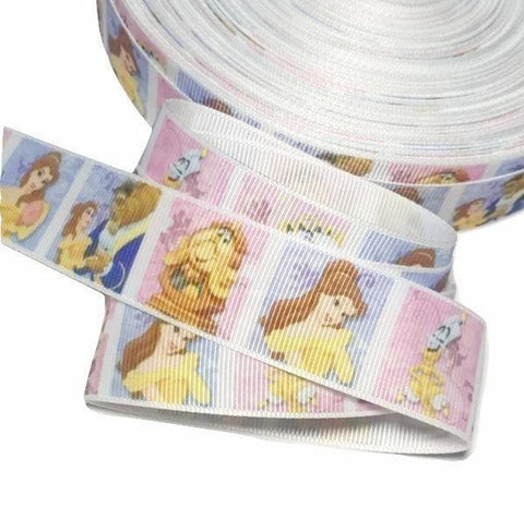 "Beauty & The Beast printed 1"" grosgrain ribbon - MAE Inspirations"